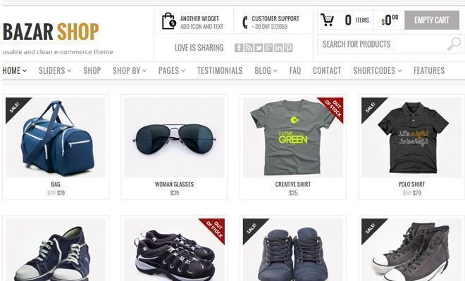 Descargar Bazar Shop - Tema de Wordpress - Themes y plugins