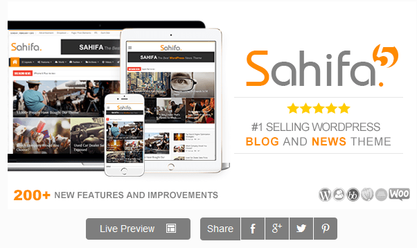 Descargar Sahifa - Tema de Wordpress - Themes y plugins