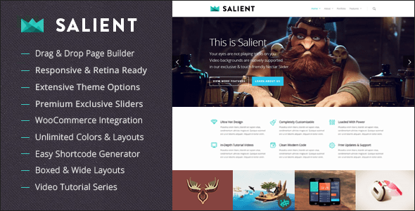 Descargar Salient - Tema de Wordpress - Themes y plugins