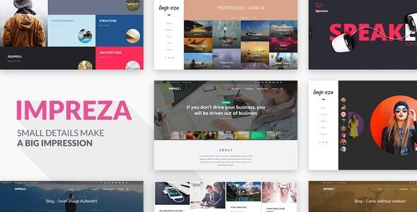 Descargar Impreza - Tema de Wordpress - Themes y plugins